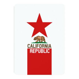 CALIFORNIA REPUBLIC State Flag Decor Card