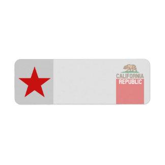 CALIFORNIA REPUBLIC State Flag Decor Label
