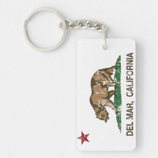 California Republic State Flag Del Mar Keychain