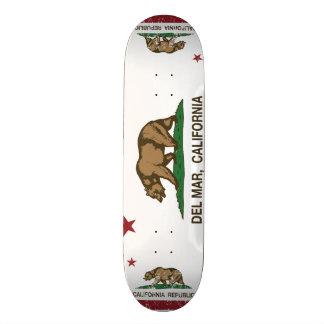 California Republic State Flag Del Mar Skateboard Deck
