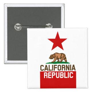 CALIFORNIA REPUBLIC State Flag Design Buttons