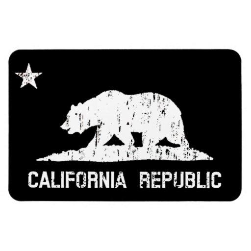 California Republic State Flag Distressed Magnet