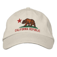 CALIFORNIA REPUBLIC State Flag Embroidered Cap Embroidered Baseball Cap