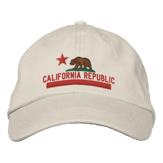 CALIFORNIA REPUBLIC State Flag Embroidered Cap Embroidered Baseball Caps