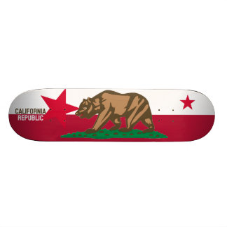 CALIFORNIA REPUBLIC State Flag Fitted Designs Skateboard