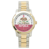 CALIFORNIA REPUBLIC State Flag Fitted Designs Wristwatches