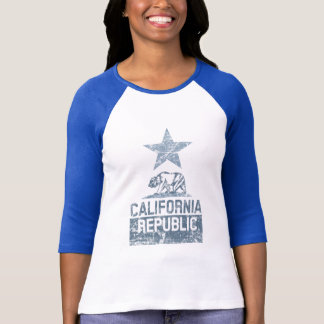 CALIFORNIA REPUBLIC State Flag Grunge Distressed T-Shirt