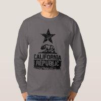 CALIFORNIA REPUBLIC State Flag Grunge Distressed T Shirt