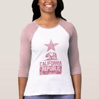 CALIFORNIA REPUBLIC State Flag Grunge Distressed Shirt