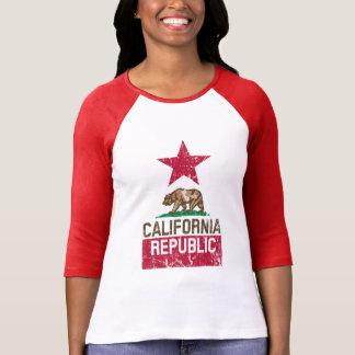 CALIFORNIA REPUBLIC State Flag Grunge Style T Shirt