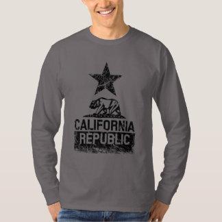 CALIFORNIA REPUBLIC State Flag Grunge Style T-Shirt