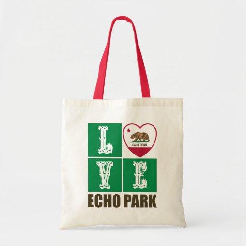 California Republic State Flag Heart Love Echo Park Tote Bag