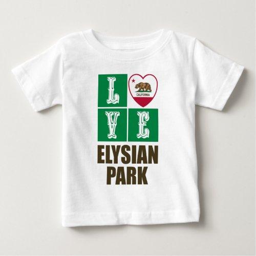 California Republic State Flag Heart Love Elysian Park Baby T-Shirt