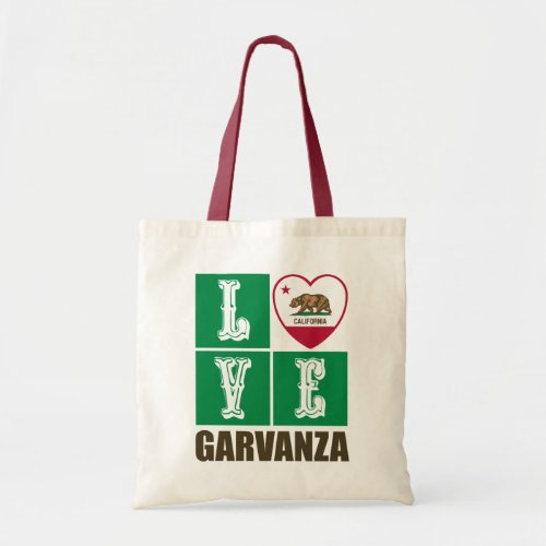 California Republic State Flag Heart Love Garvanza Tote Bag