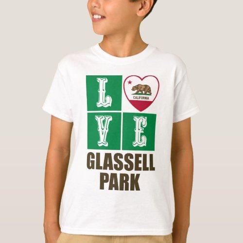 California Republic State Flag Heart Love Glassell Park T-Shirt