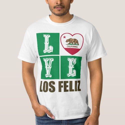 California Republic State Flag Heart Love Los Feliz T-Shirt