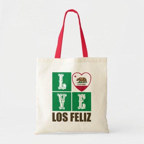 California Republic State Flag Heart Love Los Feliz Tote Bag