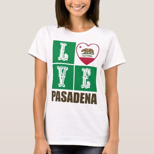 California Republic State Flag Heart Love Pasadena T-Shirt