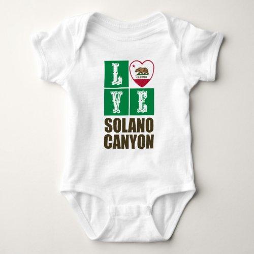California Republic State Flag Heart Love Solano Canyon Baby Bodysuit