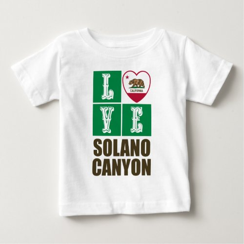 California Republic State Flag Heart Love Solano Canyon Baby T-Shirt