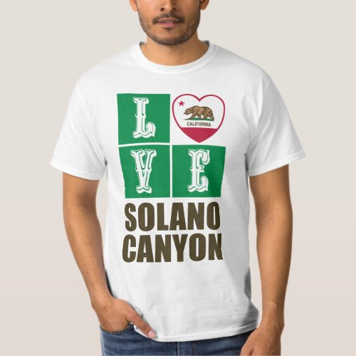 California Republic State Flag Heart Love Solano Canyon T-Shirt
