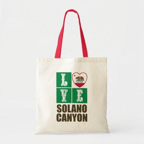 California Republic State Flag Heart Love Solano Canyon Tote Bag