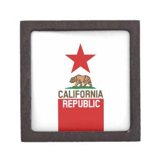 CALIFORNIA REPUBLIC State Flag Large Star Design Gift Box