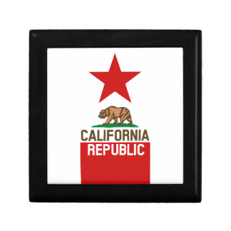 CALIFORNIA REPUBLIC State Flag Large Star Design Jewelry Box