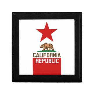 CALIFORNIA REPUBLIC State Flag Large Star Design Jewelry Box
