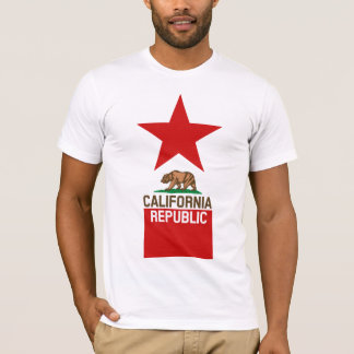 CALIFORNIA REPUBLIC State Flag Large Star Design T-Shirt