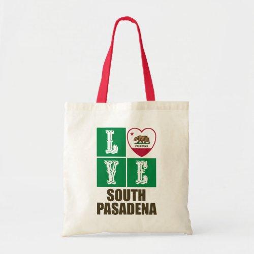 California Republic State Flag Heart Love South Pasadena Tote Bag