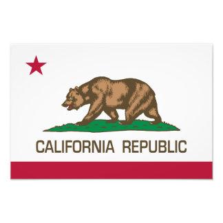 California Republic State Flag Art Photo