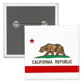 California Republic State Flag Pinback Button