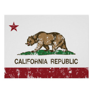 California Republic State Flag Poster