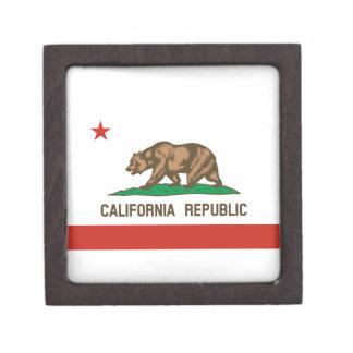 California Republic State Flag Premium Jewelry Box