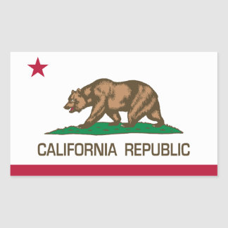 California Republic (State Flag) Rectangular Sticker
