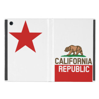 CALIFORNIA REPUBLIC State Flag Red Star Design iPad Mini Cover