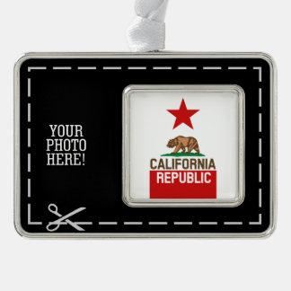 CALIFORNIA REPUBLIC State Flag Red Star Design Ornament