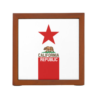 CALIFORNIA REPUBLIC State Flag Red Star Pencil/Pen Holder