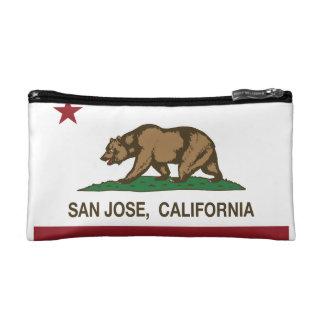California republic state flag san jose cosmetic bag
