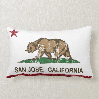 California republic state flag san jose throw pillows