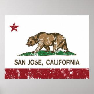 California republic state flag san jose print