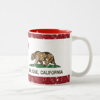 California republic state flag san jose Two-Tone coffee mug