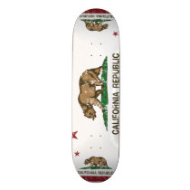California Republic State Flag Skateboard