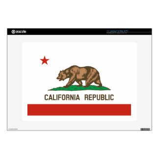 "California Republic State Flag 15"" Laptop Decal"