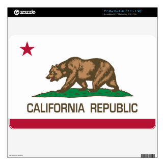 California Republic (State Flag) Decal For The MacBook