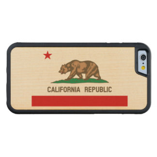 California Republic State Flag Carved® Maple iPhone 6 Bumper