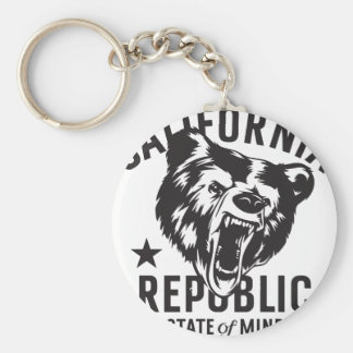 California Republic State of Mind Keychain