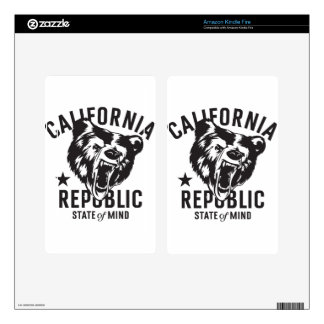 California Republic State of Mind Kindle Fire Decals