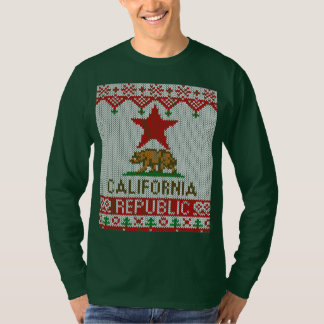 California Republic Style Christmas Ugly Sweater